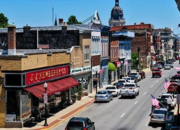 Historic downtown Paris Kentucky