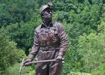 Benham coal miner statue